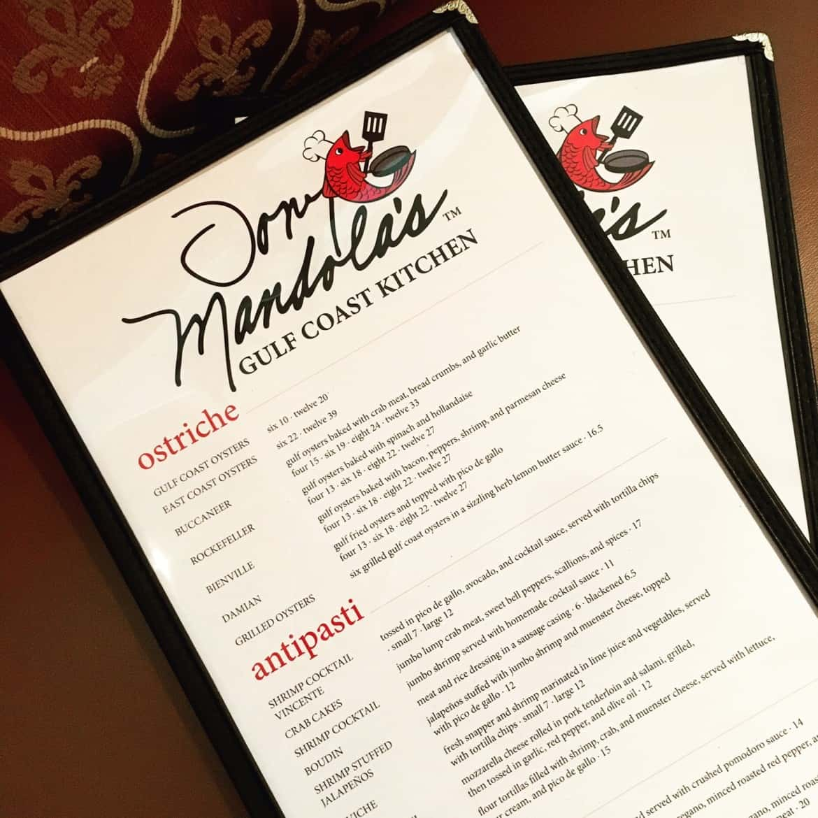 New Menu Design & Specials