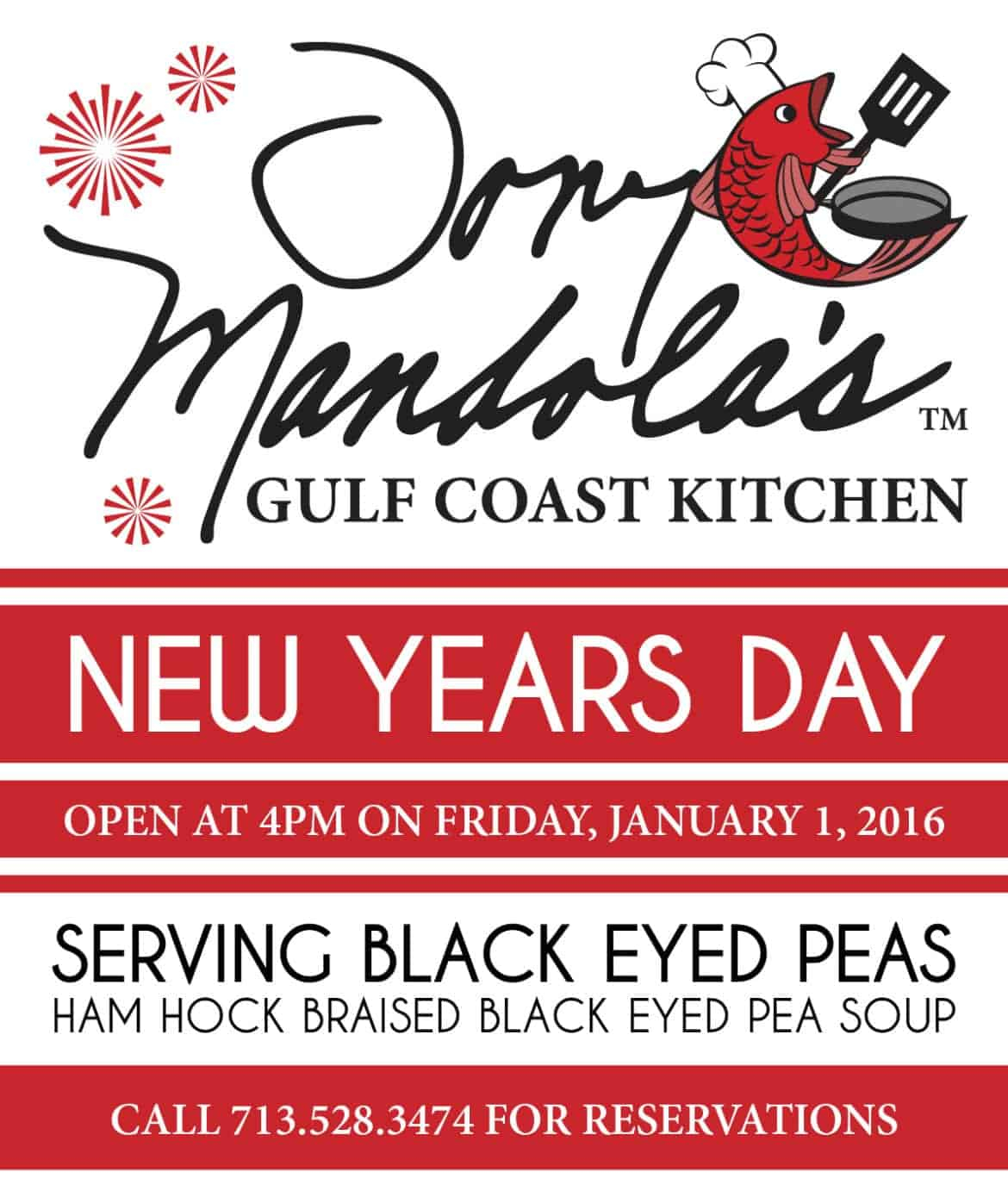 New Years Day at Tony Mandola's Gulf Coast Kitchen
